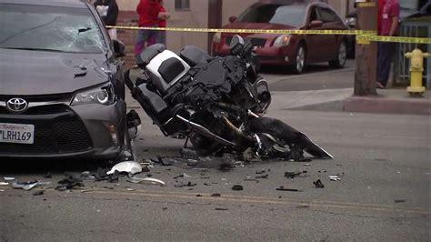 Bell Gardens Motorcycle Officer Injured In Montebello