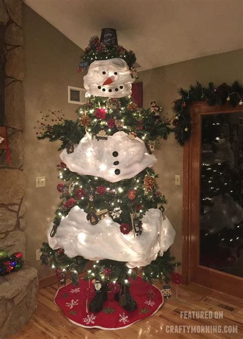 how to a snowman tree crafty morning