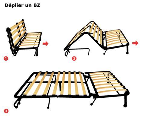 canapé bz 160 canapé bz méthode de pliage dépliage et prix ooreka