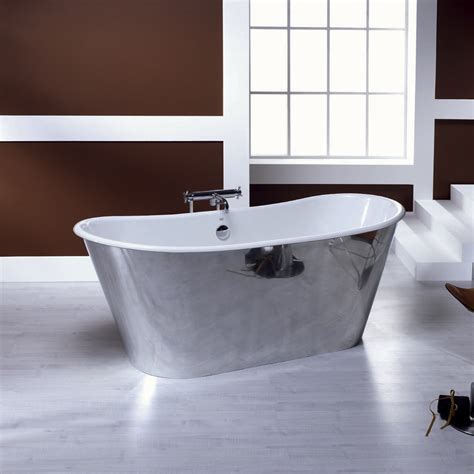 vasca da bagno corta vasca da bagno freestanding in ghisa placcata alluminio ida