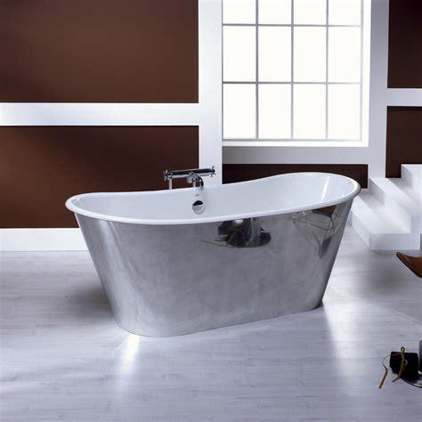 restauro vasca da bagno vasca da bagno freestanding in ghisa placcata alluminio ida
