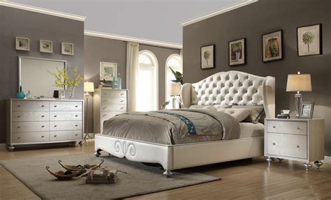 Bedroom Furniture by Tufted Wingback Bed Button Tufted Upholstered Bed