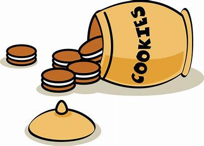 Cookie Jar Vector Illustration Laying Its Side