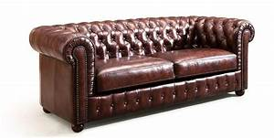 112 canape cuir style ancien chesterfield ensemble With canapé ancien cuir