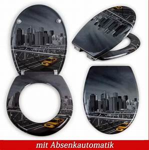 Toilettensitz Mit Absenkautomatik : toilettensitz manhattan toilettendeckel klodeckel wc real ~ Orissabook.com Haus und Dekorationen