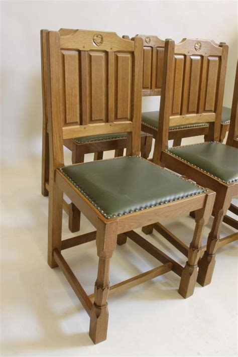 a set of six oak dining chairs by bob quot wren