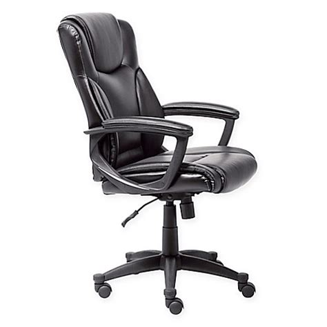 bed bath and beyond desk chair buy serta executive office chair in black from bed bath