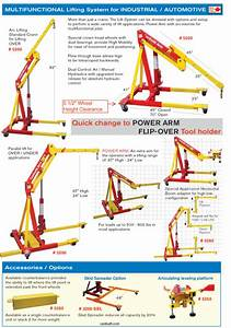 Dual Air  Manual Operated Engine Crane  Lifting System
