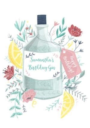 birthday card birthday gin alcohol gin  tonic moonpig