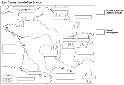 Carte Des Reliefs De à Compléter by Le Territoire National Et Sa Population
