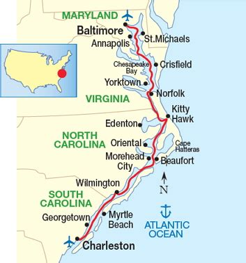 mid atlantic inland passage charleston  baltimore american cruise lines