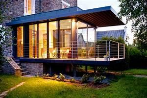 Agrandissement vitré d'une maison en pierre Clohars Carnoët Extensions Atelier 1 1