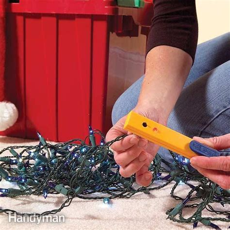 how to repair christmas tree lights the family handyman