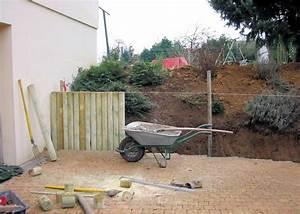 Rondin De Bois Pour Jardin : terrasse muret normandie espaces verts entretien ~ Edinachiropracticcenter.com Idées de Décoration