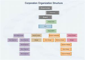Corporation Organization Structure  Examples