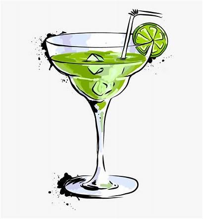 Cartoon Glass Martini Cocktail Transparent Margarita Clipart