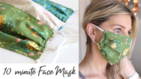 diy face mask  elastic   minutes sewing tutorial