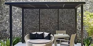 Pergola Made With Dimensions U2122 Black Privacy Square Plastic