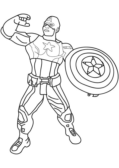 captain america captain america kids coloring pages