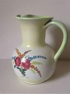 Pottery, Pitcher, Floral, Jug, Cottage, Decor, Potterypitcher, Floraljug, Jugvase, Cottagedecor