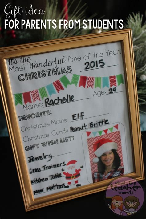 what to give to parents for christmas what the wants gift idea from students to their parents