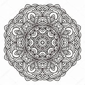 Orientalische Muster Zum Ausdrucken : verzierung handgezeichnete mandala vorlage f r design ~ A.2002-acura-tl-radio.info Haus und Dekorationen