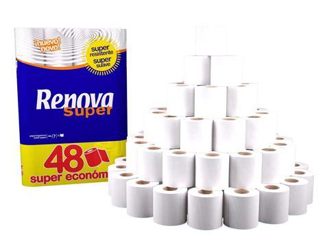 renova 2 ply toilet roll tissue paper bulk wholesale 48