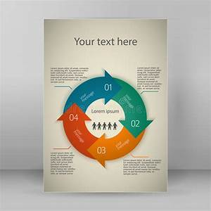 Infographic Template In A4 Format In Blue Color