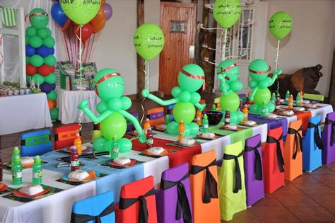 Ninja Turtle Party Decoration Ideas Elitflat