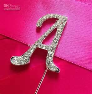 letter cake topper wholesale diamante cake topper alphabet letter for