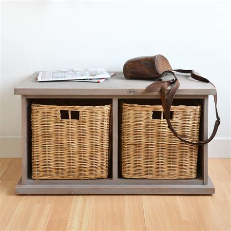 bench with storage baskets small bench with storage for entryway storage and stylish