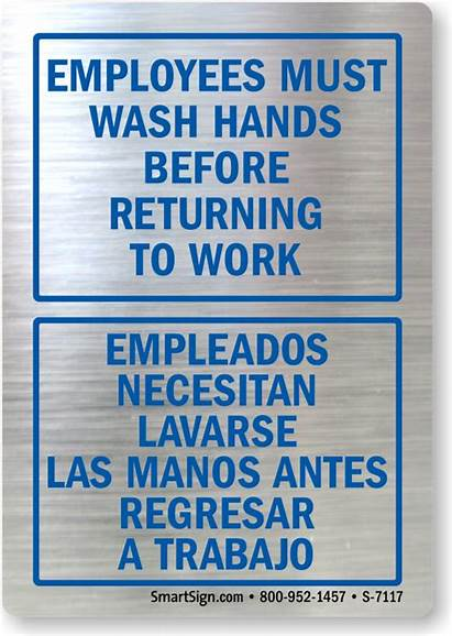 Wash Hands Employees Returning Before Must Decal