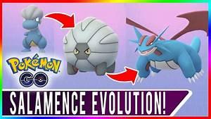 POKEMON GO SALAMENCE EVOLUTION! Level 35 100% Bagon + Rare ...