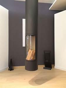 Poele Suspendu Design : foyer suspendu po le bois chemin e m tallique focus slim de chez focus cr ation chemin e ~ Melissatoandfro.com Idées de Décoration