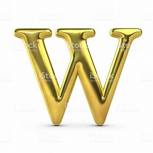 Shiny Gold Capital Letter W stock photo 514575348 | iStock