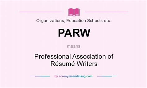what does parw definition of parw parw stands