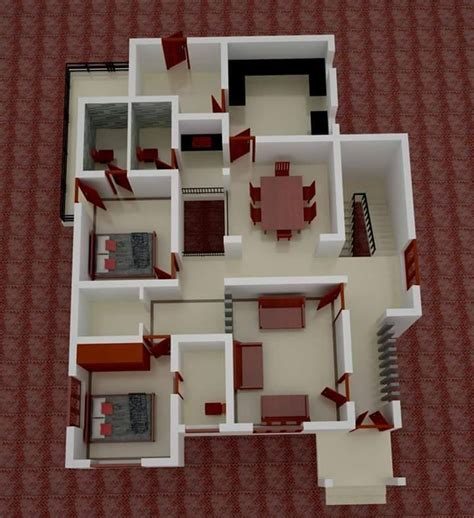 2 bedroom house floor plans low budget kerala home design with 3d plan home pictures