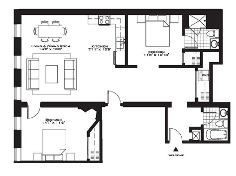 bedroom floorplan exquisite luxury 2 bedroom apartment floor plans on