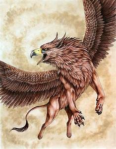 Griffins, Mythical creatures and King on Pinterest