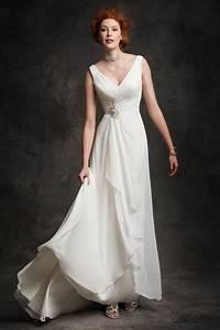 simple flowy chiffon wedding dresses 2015 summer v neck With short flowy wedding dresses