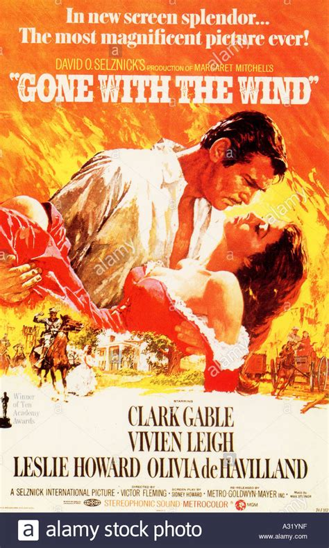GONE WITH THE WIND poster for the 1939 MGM classic film