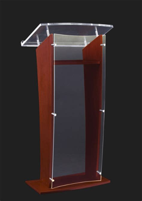 Wooden Table Number Stands by Sn3500 Wood And Acrylic Floor Lectern Frosted Acrylic