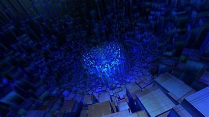3d Cube Abstract Tunnel Wallpapers Desktop Square