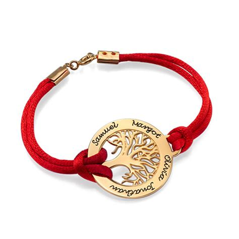 bracelet arbre de vie en plaqu 233 or 18ct moncollierprenom