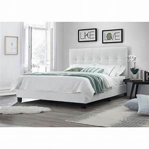 Lit Double Blanc : lit double blanc 160x200 t te de lit pieds et sommier int gr s ~ Teatrodelosmanantiales.com Idées de Décoration