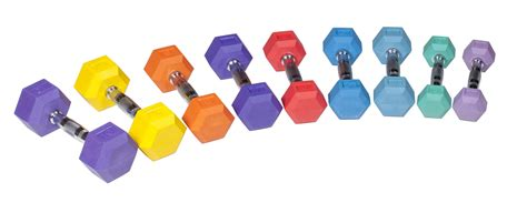 power rubber hex rubber hex dumbbell color york barbell