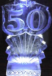 50th Birthday Ice Sculpture