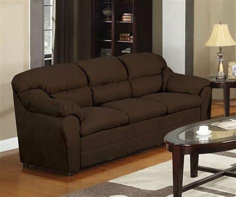 chocolate microfiber sofa f7615 poundex chocolate microfiber sectional sofa w ottoman thesofa - Chocolate Brown Microfiber Sofa
