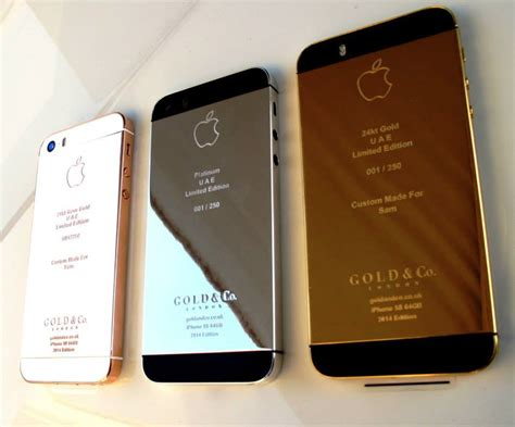iphone 5s iphone 5s plated in gold or platinum technabob