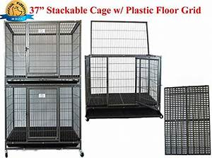 new 37quot stackable homey pet open top heavy duty dog pet With open top dog kennel